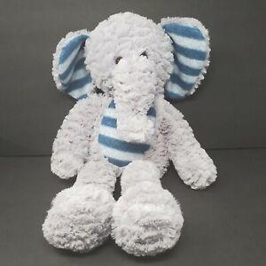 "Dan Dee Elephant 22"" Plush Stuffed Animal Gray Blue Striped Soft Lovey Big Decor"
