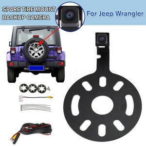 Reverse Backup Camera Waterproof Night Vision Spare Tire Mount for Jeep Wrangler