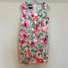 JONES NEW YORK Stretch Floral Spring Summer Party Tea  Dress Size 12 Petite
