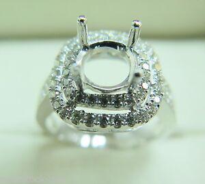 Pure Platinum 900 Classic 4 Prongs 0.56ct Diamonds Engagement Ring Setting