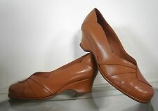 Damen antik uk 7,5 Pumps 30er TRUE VINTAGE 30´s braun cognac Leder old brown