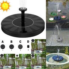 2020 Solar Powered Water Feature Pump Floating Pool Pond Aquarium Fountain UK