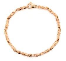 """Real 14k Rose Gold Nugget Bracelet 7"""" 3.8mm 9 grams"""