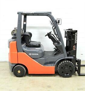 NICE! 2012 TOYOTA 5000 LB LPG FORKLIFT 5,000 LB 8FGCU25 SIDE SHIFT