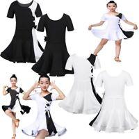 Toddler Girls Lyrical Ballroom Latin Dance Dress Children Stage Show Costume Set