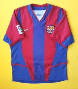 Barcelona kids jersey 12 years 2002 2003 home shirt Nike soccer ig93