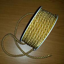 Kordel, Schleifenband, Schnur gedreht, gold, Ø ca. 6mm, 2m lang,