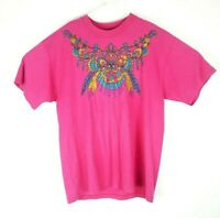 Vintage T Shirt 90s Native American Indian Feathers butterfly Made In USA Large