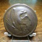 Civil War Era Brass Round Eagle Breast Plate Damaged