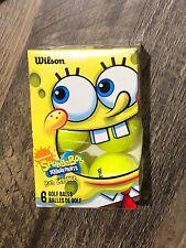 Wilson SpongeBob Squarepants 6 New Golf Balls in Package Bright Yellow Six Pack