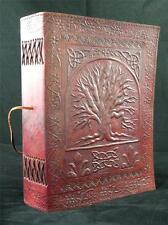 Large celtique arbre de vie fait main cuir pagan wicca journal livre-de-ombres