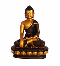 Meditation Buddha Natural Resin Golden Color Statue 5.5'' for Gift Decor Peace