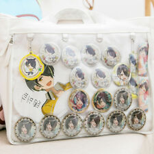 Japanese Single Shoulder  Canvas Bag Transparent Otaku Itabag Anime Heart Shape
