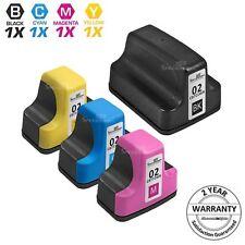 4p BLACK Color 02 Printer Ink Cartridge for HP Photosmart C6180 3210 C6280