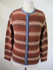 F4083 Women Woolrich Striped Cardigan Sweater