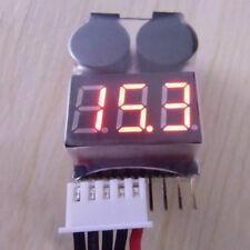 Batería Lipo Bajo Voltaje Probador 1S-8S Zumbador Alarma Checker Prueba Indicador LED.