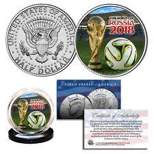 2018 FIFA WORLD CUP RUSSIA Soccer Football JFK Half Dollar U.S. Coin with COA
