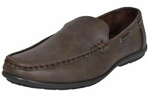Mens Slip on Loafer Mocassin Shoes Flat Casual Driving Deck Boat Shoes UK Size