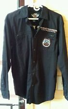 Harley Davidson 105 Years Button Front Shirt Embroidered Long Sleeve Authentic S