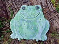 """Frog stepping stone mold toad concrete plaster plastic mould  12"""" x 11.5"""" x 1.5"""""""