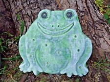 Frog stepping stone mold toad concrete plaster plastic mould
