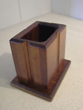 PENCIL/ PEN/ TOOTHBRUSH  HOLDER/ CADDY SOLID TIMBER
