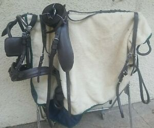 New Brown Leather Pony Size Driving harness Big Shetland Small Pony carriage