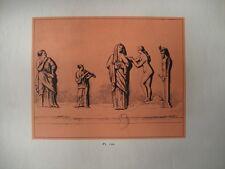 Gravure XXè - Sacrifice a Priape -Bas relief en marbre - Planche 8 - 1959
