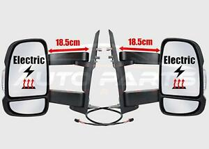 Citroen Relay Long Arm Wing Mirror Electric Complete Set Right O/S Left N/S 06-