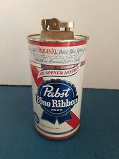 Vtg 1960s Pabst Beer 12oz Can no opener needed Advertising Cigarette Lighter Pbr