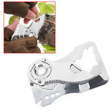 1Pc Pocket Credit Card Cut Multi Tool 9 in 1 Outdoor Survival Camping Sharp