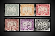1938 TO 1946 HONG KONG MINT NEVER HINGED INCOMPLETE POSTAGE DUES