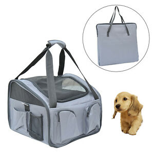 PawHut Folding Pet Bag Carrier Car Seat Dog Cat Safety Travel Shoulder Portable
