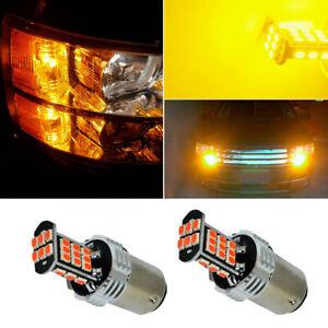 2x 30-LED 2057 1157 Car Turn Signal Light Bulb Amber Yellow Blinker Universal