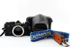 Olympus OM-2N 35mm film SLR Black Body w/strap/case from Japan [Excellent] #346