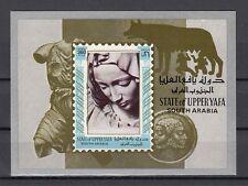 Aden, Upper Yafa, Mi cat. 22, BL2. Famous Sculpture s/sheet.