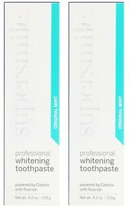 SuperSmile Professional Whitening Toothpaste (4.2) Orig Mint EXP 3/22 - 2 BNIB