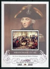 Antigua & Barbuda 2005 MNH Battle of Trafalgar 200th 1v S/S Ships Nelson Stamps