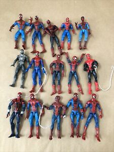"Marvel Legends (Hasbro/ToyBiz) Spiderman Figure Lot Of 15 6"" Figures Lot#1"