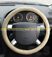 UNIVERSAL FIAT FAUX LEATHER STEERING WHEEL COVER BEIGE
