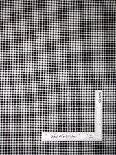 Kitchen Check Checkered Cotton Fabric Black White Buon Appetito SPX ~ Yard