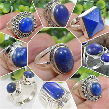 LAPIS LAZULI 925 STERLING SILVER HANDCRAFT RING,SIZE MENTION BUYER'S ORDER NOTE