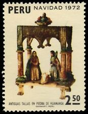 """PERU 599 (Mi887) - Christmas Sculptures """"Holy Family in Stable"""" (pa25492)"""