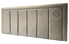 Silver Beauty Line Headboard King,Double and single in Plush and Crushed Velvet