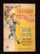 WHERE THERE'S LIFE * BOB HOPE * ARGENTINE 1sh POSTER 47