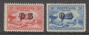 Australia 1931 2d,3d AIRMAIL **ovpt OS**  SG O123/4 Cat £360+ MUH superb (2)
