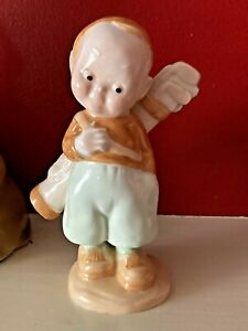 A Rare  Shelley Mabel Lucie Attwell Figure Of Golfer Caddy Boy - Mint Condition