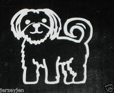 SHIH TZU MALTESE/BICHON FRISE STICKER DECAL Car Window Dog Stick Family Bumper