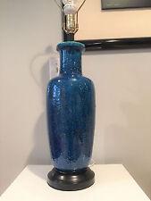Vintage Raymor Italy Rimini Blue Pottery Lamp