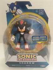"""SONIC THE HEDGEHOG 4"""" SHADOW ACTION FIGURE W/ SUPER RING ACCESSORY - NEW"""